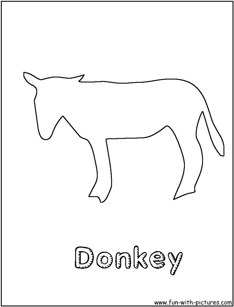 Donkey Coloring Page 2011 09 08 Coloring Page
