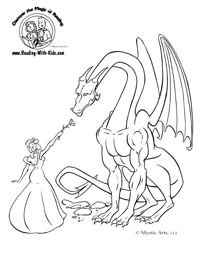 Knight And Dragon Coloring Pages