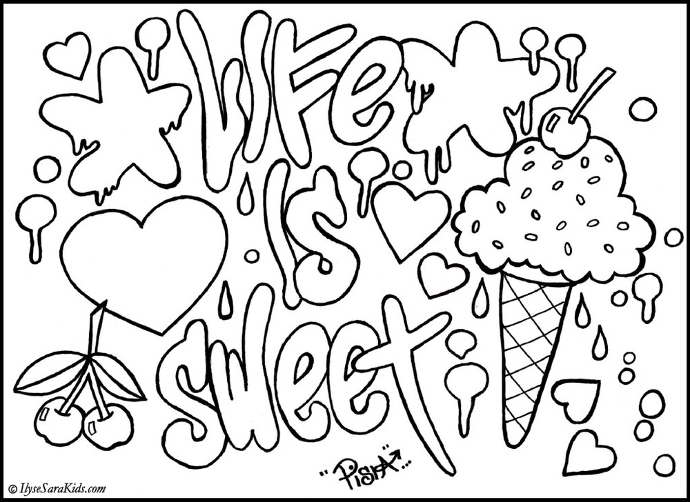Awesome Graffiti Coloring Pages 3
