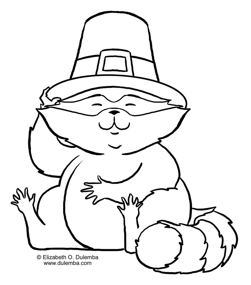 Coloring pages raccoon - Raccoon Coloring Page 12