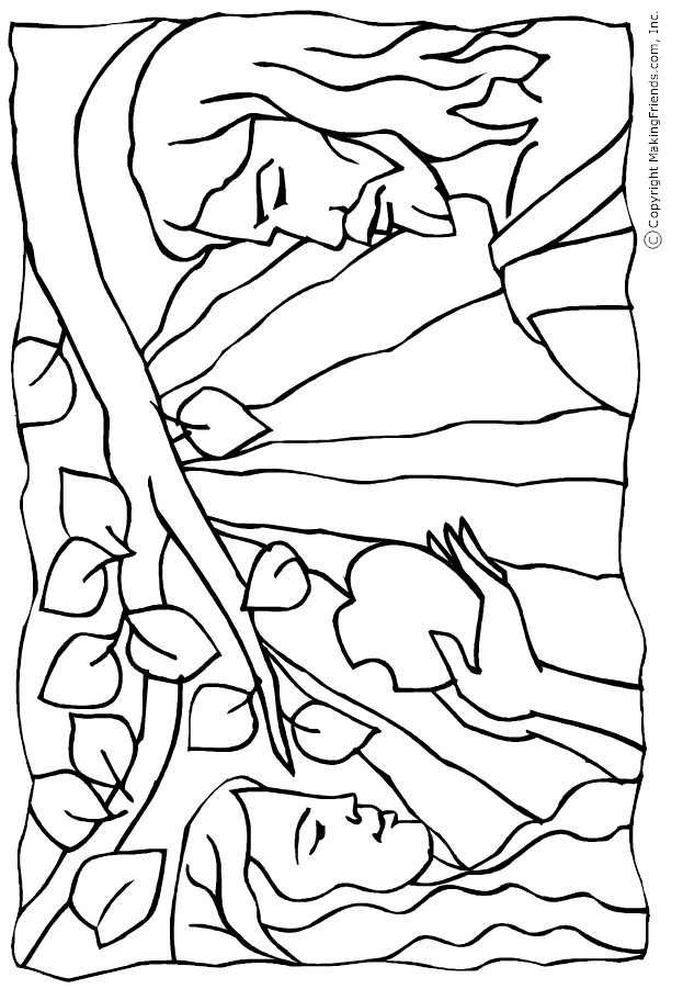 adam and eve coloring page 2 adam eve garden eden coloring pages