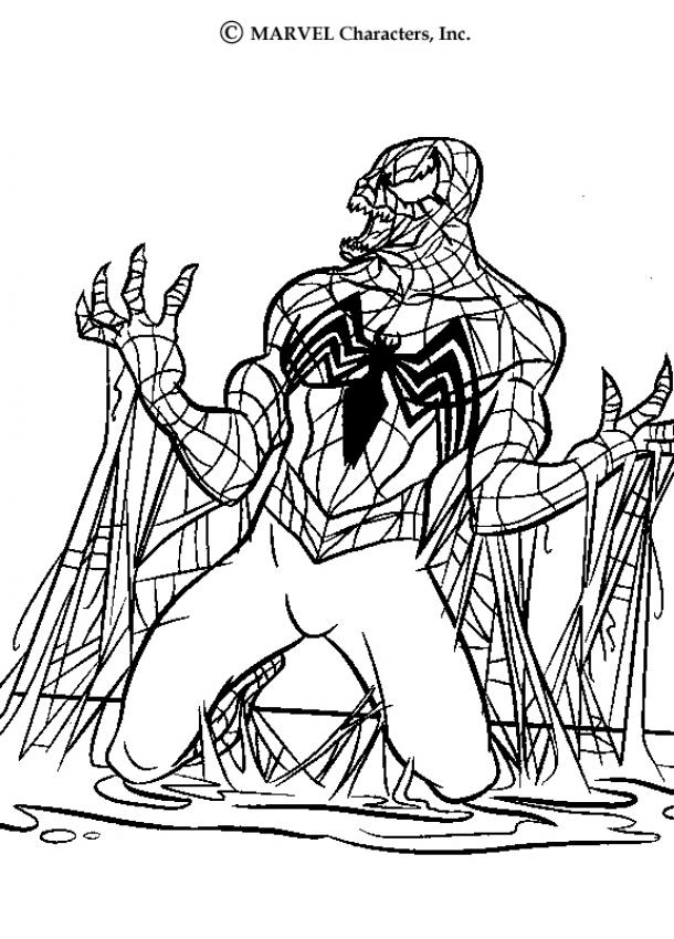 Spiderman Coloring Page 7