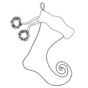 Stocking Coloring Page 2011-11-26 | Coloring Page