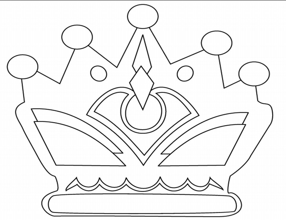 Crown Coloring Page 15