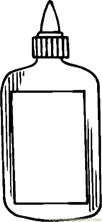 glue bottle coloring pages | Glue Coloring Page 2011-12-20 | Coloring Page