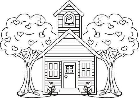 house coloring page 2012 01 13 coloring page - House Coloring Pages