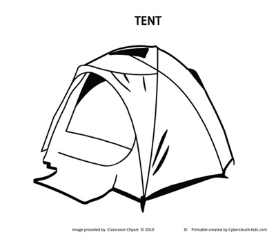 Tent Coloring Page 20120119