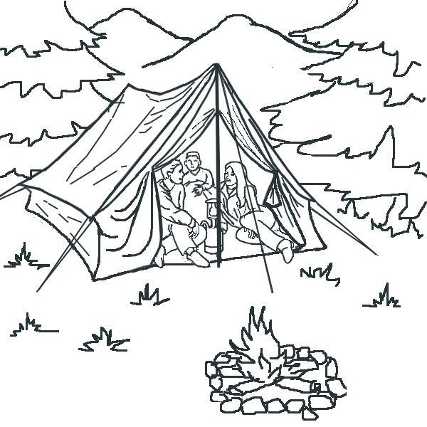 Tent Coloring Page 2012-01-23 | Coloring Page